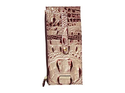 Brahmin Ombre Melbourne Credit Card Wallet (Port) Wristlet Handbags