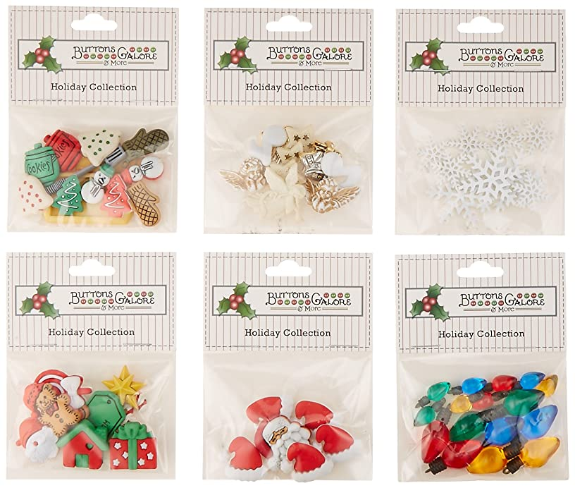 Buttons Galore Christmas Button Theme Packs-Set of 6