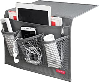 DuomiW Bedside Storage Organizer, Beside Caddy, Table Cabinet Storage Organizer, TV Remote Control, Phones, Magazines, Tab...