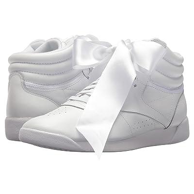Reebok Lifestyle Freestyle Hi Satin Bow (White/Skull Grey) Women