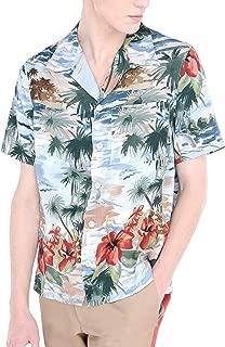 COOFANDY Men's Summer Printed Shirt Short Sleeve Beach Shirts Button Down Aloha Shirt