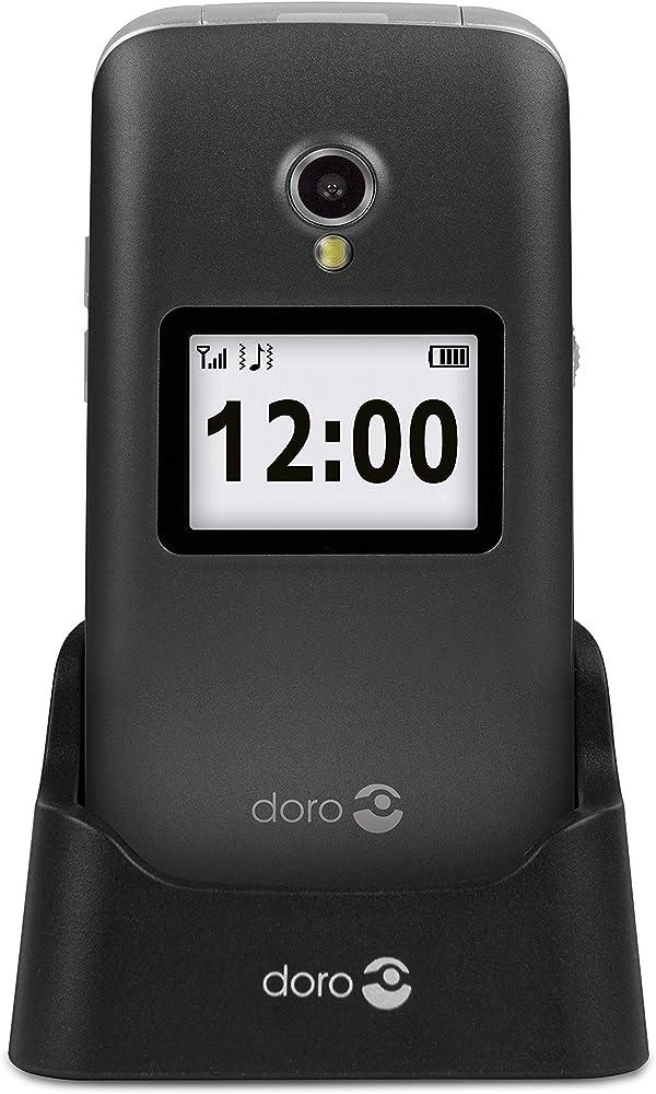 Doro 2424 telefono cellulare 2g a conchiglia per anziani con fotocamera da 3 mp 7402