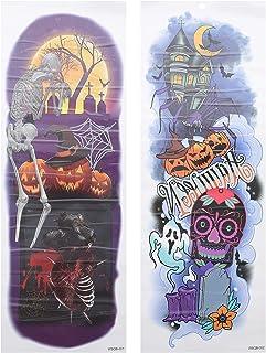 Beaupretty 4 Stuks Halloween Volledige Arm Tijdelijke Tattoo Stickers Tijdelijke Mouwen Tattoos Body Stickers Voor Hallowe...