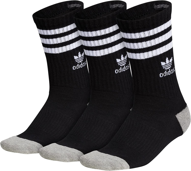 adidas Originals Kid's - Boys/Girls Roller Crew Socks (3-Pair)