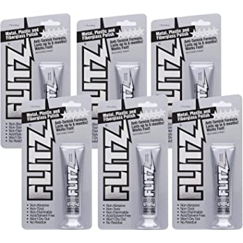 Flitz Multi-Purpose Polish and Cleaner Paste for Metal, Plastic, Fiberglass, Aluminum, Jewelry, Sterling Silver: Great for Headlight Restoration + Rust Remover, Made in the USA, 6 Pack