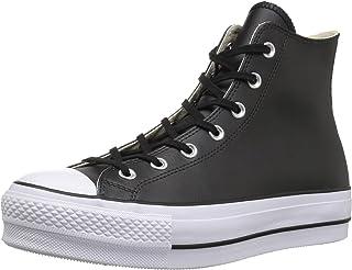 : converse cuir noir : Chaussures et Sacs