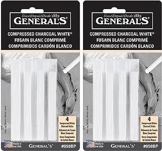 عبوتان - أقلام رصاص رصاص فحم مضغوطة من جنرال 4 قطع - أبيض - ناعم متنوع (GP958-BP)