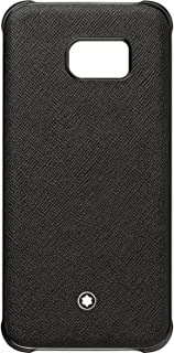 Genuine Montblanc 115838 Sartorial Hard Shell Back Leather Cover Case for Samsung Galaxy S7 Edge - Black