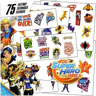 DC Super Hero Girls - 75 Assorted Temporary Tattoos