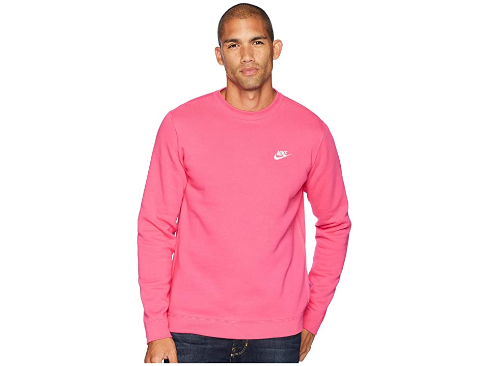Nike Club Fleece Pullover Crew (Watermelon/White) Men