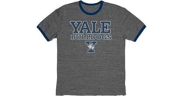 NCAA Yale Bulldogs Adult NCAA Vintage Triblend Ringer,Medium,Navy