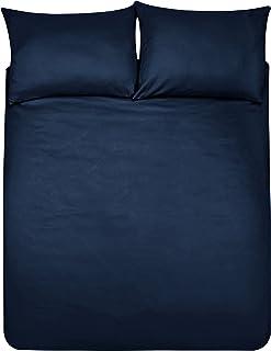 Amazon Basics Duvet Set, Azul marino, 230 x 220 cm + 2 fundas 50 x 80 cm