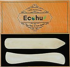 ECOHU Bone Folder Paper Creaser Maker Set Folding Scoring Burnishing Crafting Scrapbooking Tool for Bookbinding, Paper & L...