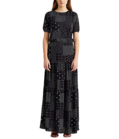 LAUREN Ralph Lauren Patchwork Crepe Maxi Dress