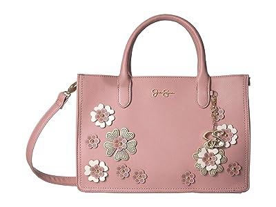 Jessica Simpson Rosalie Satchel (Moss Rose) Satchel Handbags
