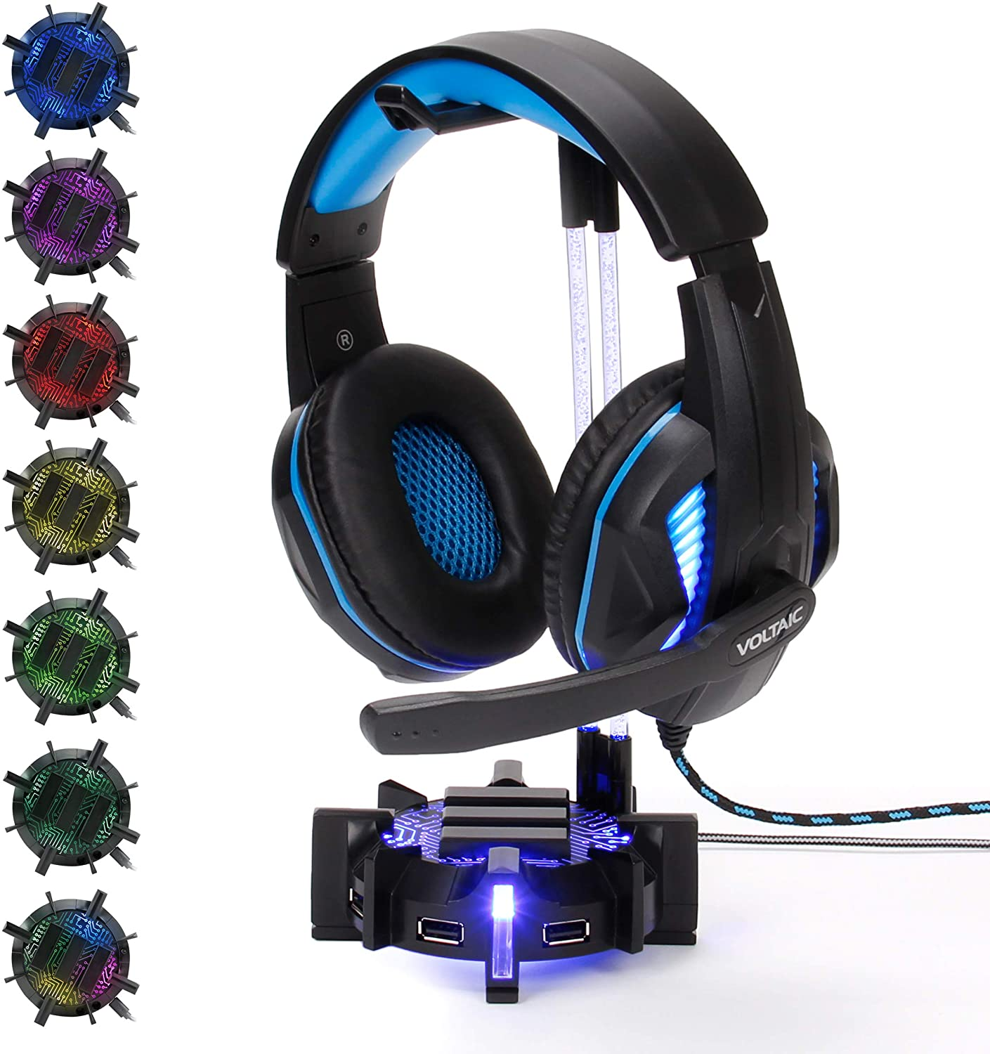 ENHANCE Gaming Louisville-Jefferson County Mall Headset Stand Headphone Holder 4 with service Port Hu USB