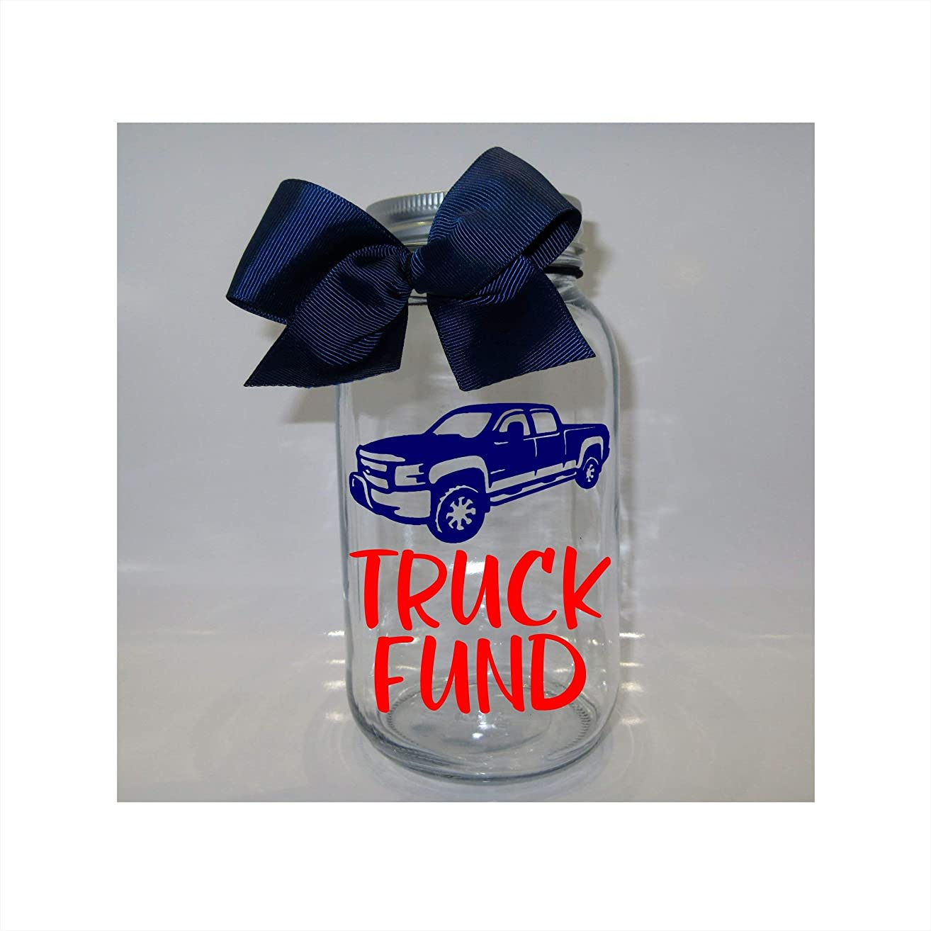 Truck Fund Mason Jar Bank - Coin Slot Lid - Available in 3 Sizes