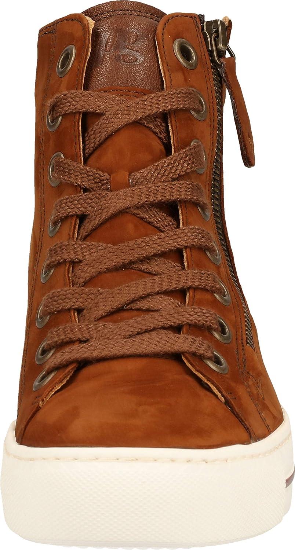 Paul Green Damen Super Soft Hightop-Sneaker, Frauen sportlicher Schnürer Braun Cognac t0FDc