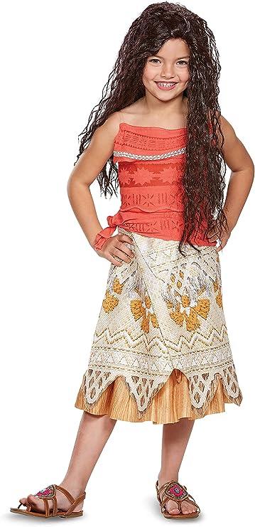Moana Girls Kids Custom Dress 5 piece Set Cosplay Halloween Free Necklace MG B3