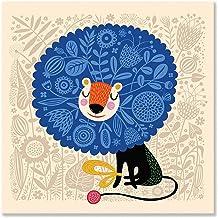 Oopsy daisy His Royal Spirit Canvas Wall Art, 14x14, Blue