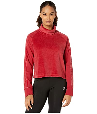 adidas Sport ID Long Sleeve Tee (Active Maroon) Women