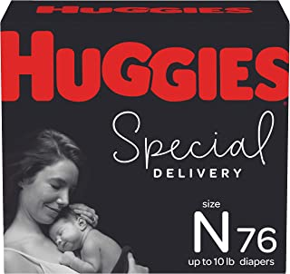 Hypoallergenic Baby Diapers Size Newborn, 76 Ct, Huggies Special Delivery