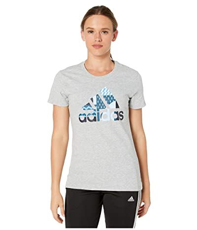 adidas Global Citizen Tee (Medium Grey Heather) Women