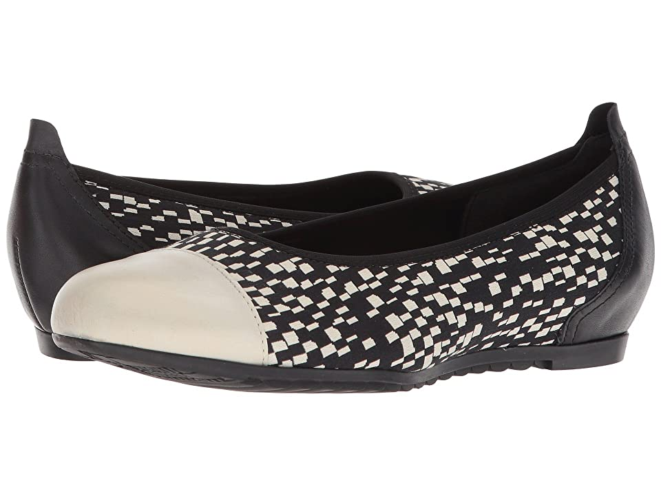 Munro Henlee (Black/White Fabric/Pearl Leather) Women