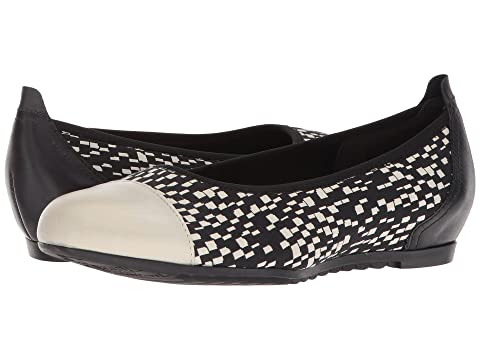 MUNRO Henlee, Black/White Fabric/Pearl Leather