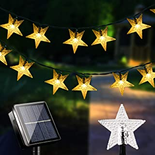 LiyuanQ Solar String Lights Outdoor Garden 100 LED Solar Star Fairy Lights IP65 Waterproof Decorate for Garden, Party, Patio, Decking, Gazebo, Wedding, Birthday, Gate, Yard, Indoor(Warm)