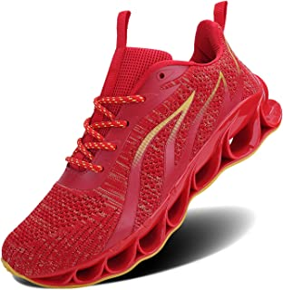 Mens Breathable Walking Tennis Running Shoes Blade Slip on Casual Fashion Sneakers