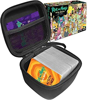FitSand (TM Travel Zipper Carry EVA Hard Case for Rick and Morty Total Rickall Cooperative Card Game - Black Box, Blacker Box, Best Protection for Rick and Morty Total Rickall Cooperative Cards