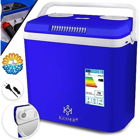 Kesser 32 Liter Kühlbox KÜhlt Und WÄrmt Thermo Elektrische Kühlbox 12 Volt Und 230 Volt Mini Kühlschrank Für Auto Und Camping Eek A Blau Küche Haushalt