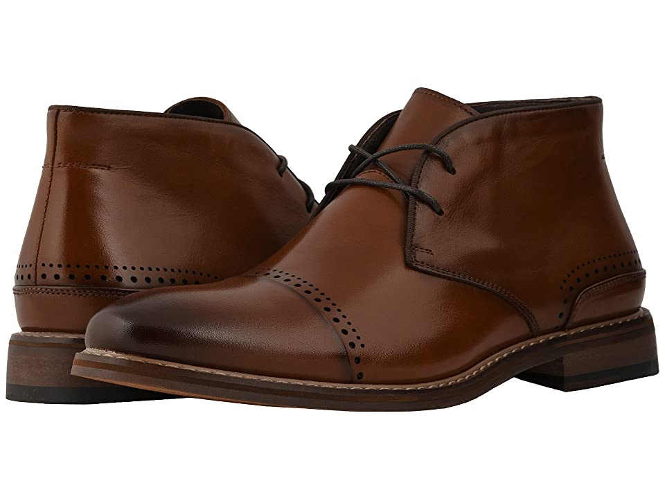 Stacy Adams Ashby Cap Toe Chukka Boot (Cognac) Men