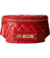 LOVE Moschino - Shiny Quilted Belt Bag