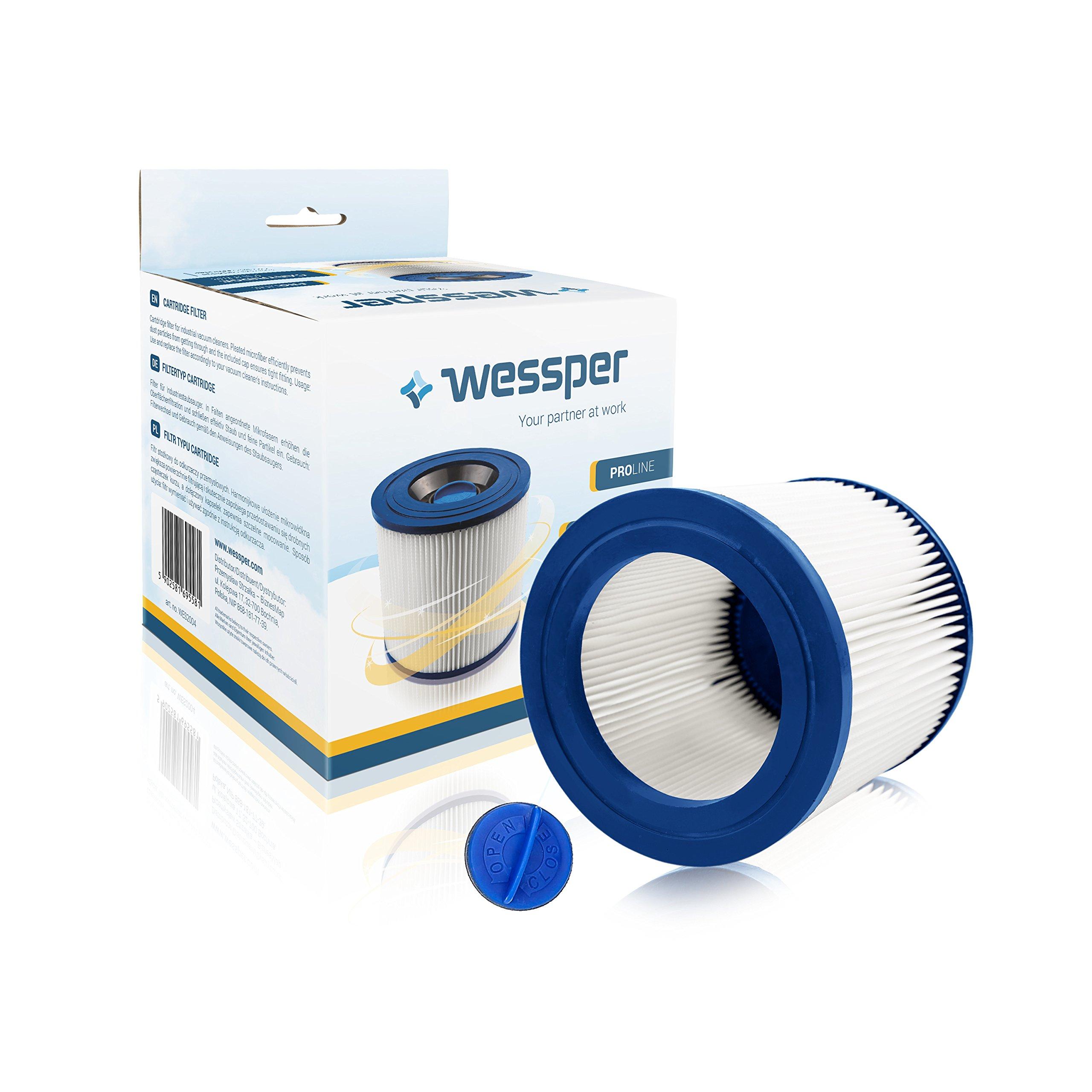 WESSPER® Filtro de cartucho para aspirador Kärcher 2901F (Para uso seco): Amazon.es: Hogar