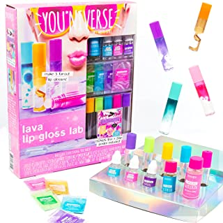 You*Niverse Create Your Own Lava Lip Gloss Lab Craft Kit by Horizon Group USA, DIY 5 Lip Glosses, Mix & Create Compounds f...