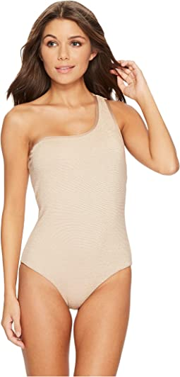Jantzen - Gold Texture One Shoulder One-Piece