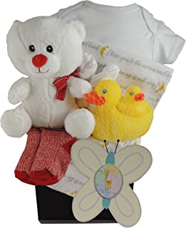 Pants Socks and Mittens and a Nursery Clock LOVED Beautiful Baby Girl Gift Basket with Large Kaloo Chubby Bunny Plush and 6 Piece Gift Set Ags 3-6 Mo Hat Includes: Heart Bodysuit Little Princess Bib