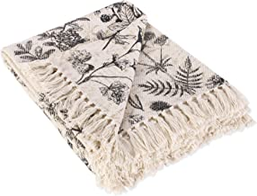 DII French Country Printed Woven Throw, 50x60, Botanical
