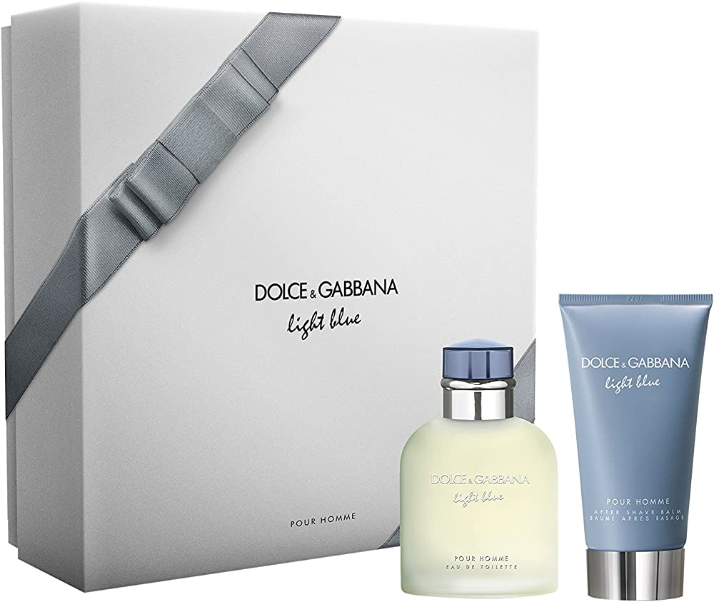 Dolce & gabbana d&g kit corpo 2 pezzi light blue profumo 75 ml eau de toilette/dopobarba 75 ml 730870259900