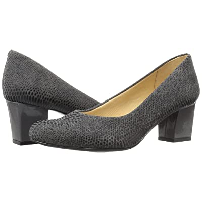Trotters Candela (Dark Grey Raised Lizard) High Heels