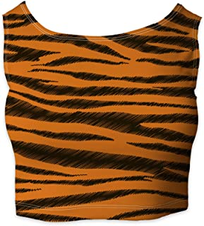 Rainbow Rules Tigger Stripes Winnie The Pooh Inspired Sleeveless Crop Top