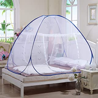 Tailbox Portable Mosquito Net - Sleep Screen Pop-Up Mosquito Net Bed Guard Tent Folding Attached Bottom with Zipper for Babies Adult Travel Camping (150cm x 200cm)