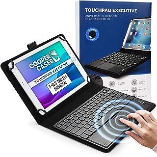 Cooper Cases TOUCHPAD EXECUTIVE Bluetooth タッチパッド付き キーボード ケース 【 9-10.5 インチ タブレット 汎用サイズ 】 ワイヤレス マウス カバー 着脱可能 (ブラック)