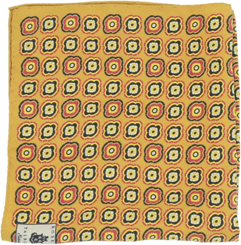 Robert Talbott Men's Silk Printed Pocket Square