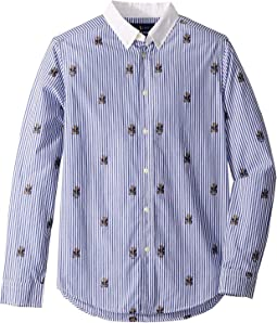 Polo Bear Stretch Cotton Shirt (Big Kids)