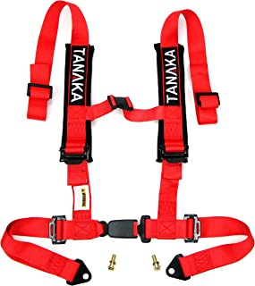 Tanaka Phantom Series Buckle 4 Point Safety Harness Set with Ultra Comfort Heavy Duty..