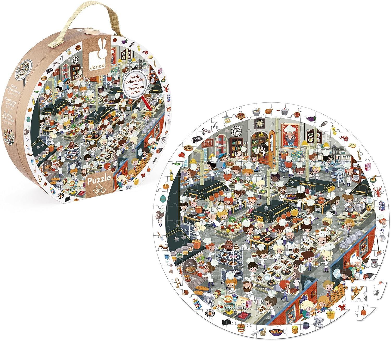 Janod Observation Puzzle Kitchen 208Pieces, 1 Pack