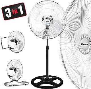 3 in 1 Ventilatore Stand Ventilatore Pavimento Ventilatore Muro Ventilatore Ø 45 cm DMS ®
